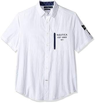 Nautica Men's Classic Fit Heritage Ripstop Nylon Short Sleeve Shirt
