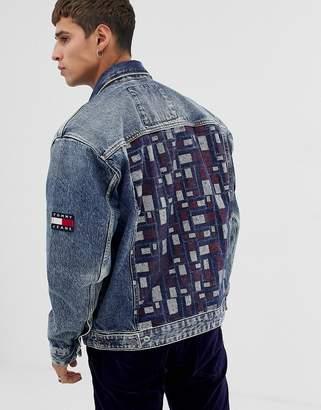 c302da15 Tommy Jeans oversize denim trucker jacket in mid wash