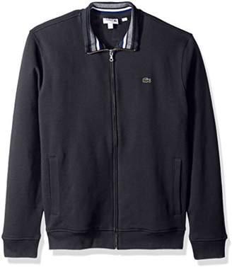 Lacoste Men's Semi Fancy Brushed Pique Fleece Full Zip Sweatshirt