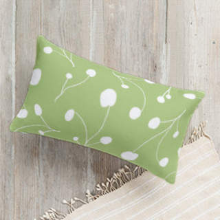 Posy Florets Self-Launch Lumbar Pillows