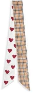 Burberry Heart& Mini Check Silk Ribbon