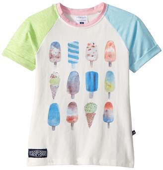Toobydoo Pink and Blue Popsicle Tee Girl's T Shirt