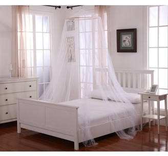 Oasis Casablanca Round Hoop Polyester Sheer Mosquito Netting Bed Canopy