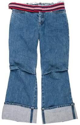 Alexander McQueen Low-Rise Wide-Leg Jeans