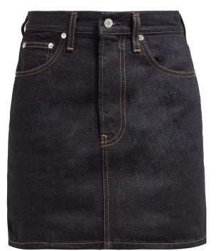 Helmut Lang Femme Denim Mini Skirt - Womens - Dark Denim