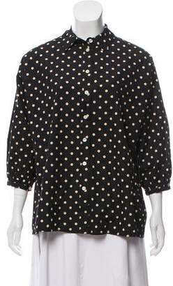 The Great Polka Dot Button-Up Top w/ Tags