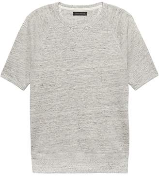 Banana Republic Heritage Linen-Cotton French Terry Sweatshirt