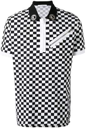 Givenchy checkered polo shirt