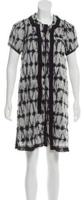 Proenza Schouler Printed Button Up Dress