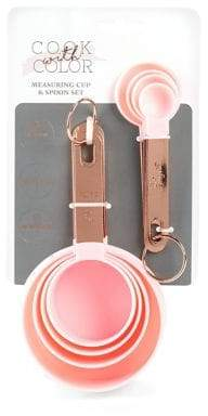 Cook With Color Eight Piece Copper Measuring Cups and Spoons