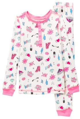 Betsey Johnson Allover Print Tight Fit Pajama Set (Little Girls & Big Girls)