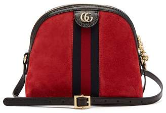 Gucci Ophidia Suede Cross Body Bag - Womens - Red Multi