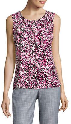 Kasper SUITS Printed Sleeveless Top