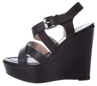 Barbara Bui Venice Leather Wedges