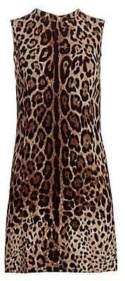 Dolce & Gabbana Women's Sleeveless Stretch Cady A-Line Dress