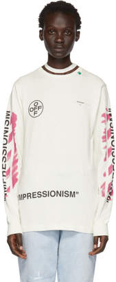 Off-White Diag Stencil Long Sleeve T-Shirt