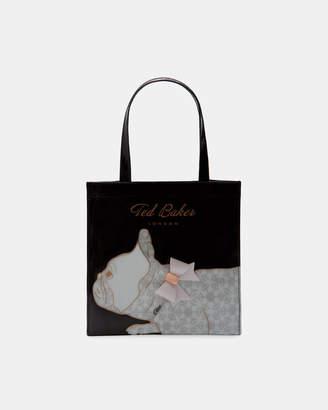 Ted Baker MAYACON Cotton Dog small icon shopper bag