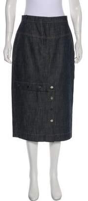 Tibi Chambray Midi Skirt w/ Tags