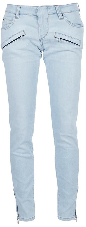 Pierre Balmain Zip detail jeans