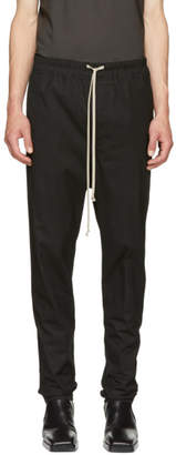 Rick Owens Black Drawstring Astaires Trousers