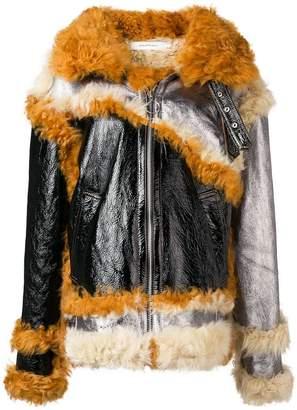 Marques Almeida Marques'almeida patchwork shearling lined jacket