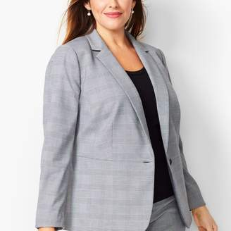 Talbots Glen Plaid Peplum Blazer
