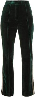 Mary Katrantzou Deosh high-rise straight-leg velvet trousers