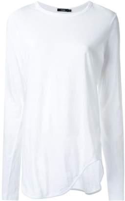Bassike curved hem T-shirt