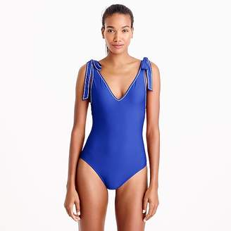 Shoulder-tie one-piece swimsuit $98 thestylecure.com