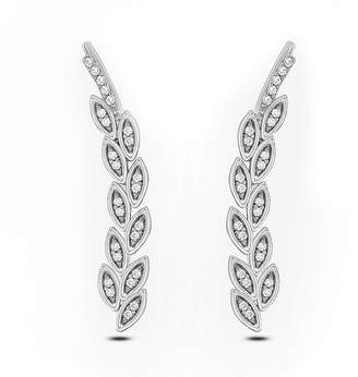 FINE JEWELRY 1/10 CT. T.W. White Diamond Sterling Silver Ear Climbers