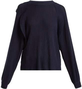 Chloé Frilled crew-neck sweater