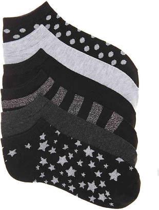 Kelly & Katie Stars No Show Socks - 6 Pack - Women's