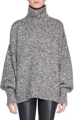 The Row Pheliana Turtleneck Melange Knit Cashmere Pullover Sweater