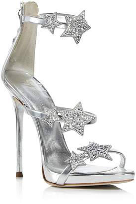 Giuseppe Zanotti Women's Strappy Leather & Crystal Embellished Star High Heel Sandals