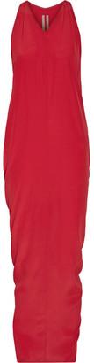 Rick Owens - Crepe Maxi Dress - Claret $810 thestylecure.com