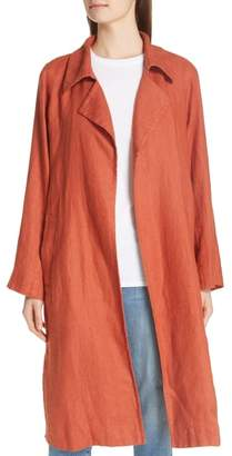 Eileen Fisher Organic Linen Trench Coat