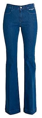 Stella McCartney Women's The 70s Flare Organic Stretch-Cotton Jeans