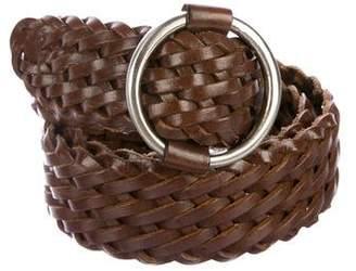Linea Pelle Braided Buckle Belt