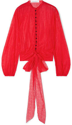 Philosophy di Lorenzo Serafini Tie-front Lace Blouse - Red