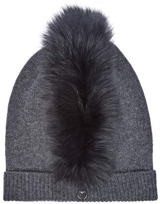 8d059a2f8aa CHARLOTTE SIMONE Mo Mohawk Cashmere Hat with Fox Fur