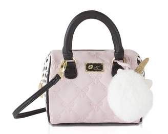 Betsey Johnson Luv Harlii Bow Mini Crossbody Satchel Bag - Blush