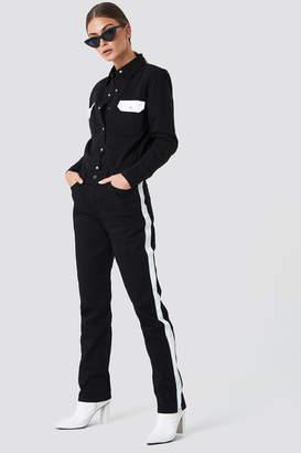 Calvin Klein HR Straight Taped Denim Pants