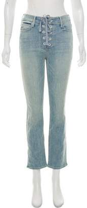 Mother Lace-Up Mid-Rise Jeans w/ Tags