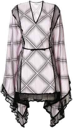 Giambattista Valli checked flared dress