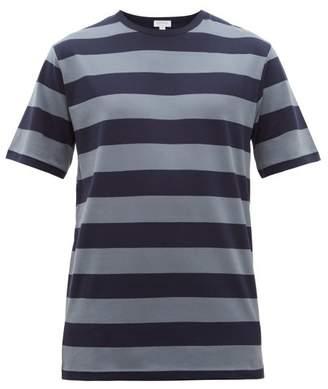 Sunspel Striped Cotton Jersey T Shirt - Mens - Navy Multi