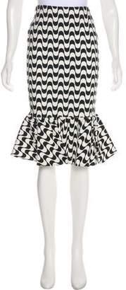 Nicole Miller Printed Knee-Length Skirt w/ Tags