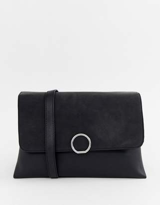 Pieces Faedra suede flap cross body bag