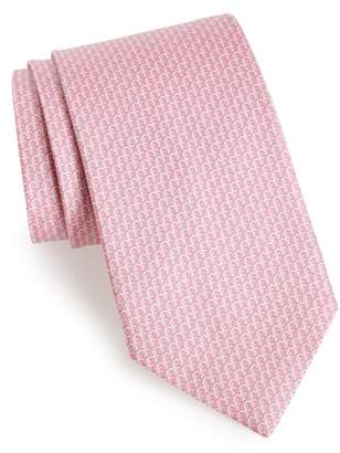 Salvatore Ferragamo Filo Print Silk Tie