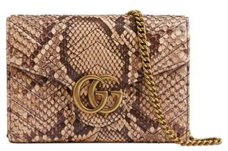 Gucci GG Marmont 2.0 Matelasse Genuine Python Wallet on a Chain