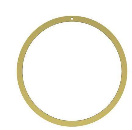 Cooee Design Dekoring flach aus Messing 40cm, goldfarben